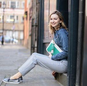 Boden Chelsea Trouser in Blue Tile